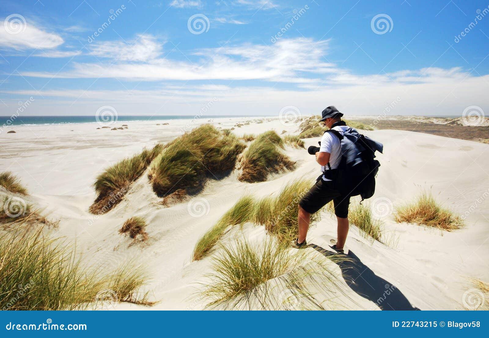 вертел песка фото дюн прощальный принимая туриста