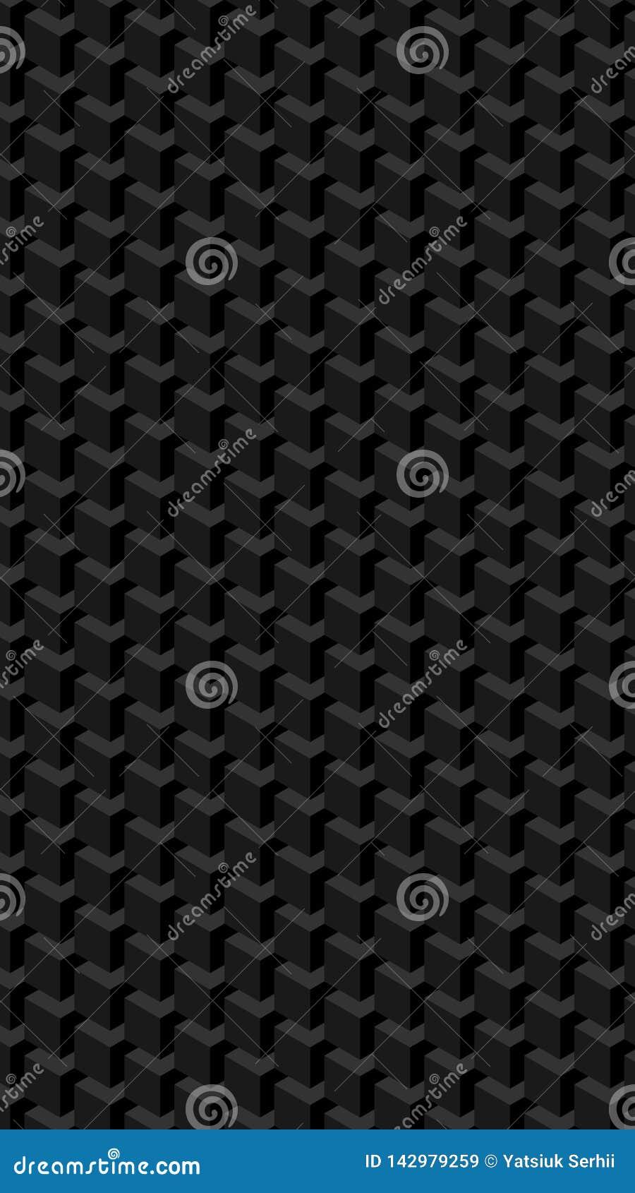 Вертикальная геометрическая картина кубов