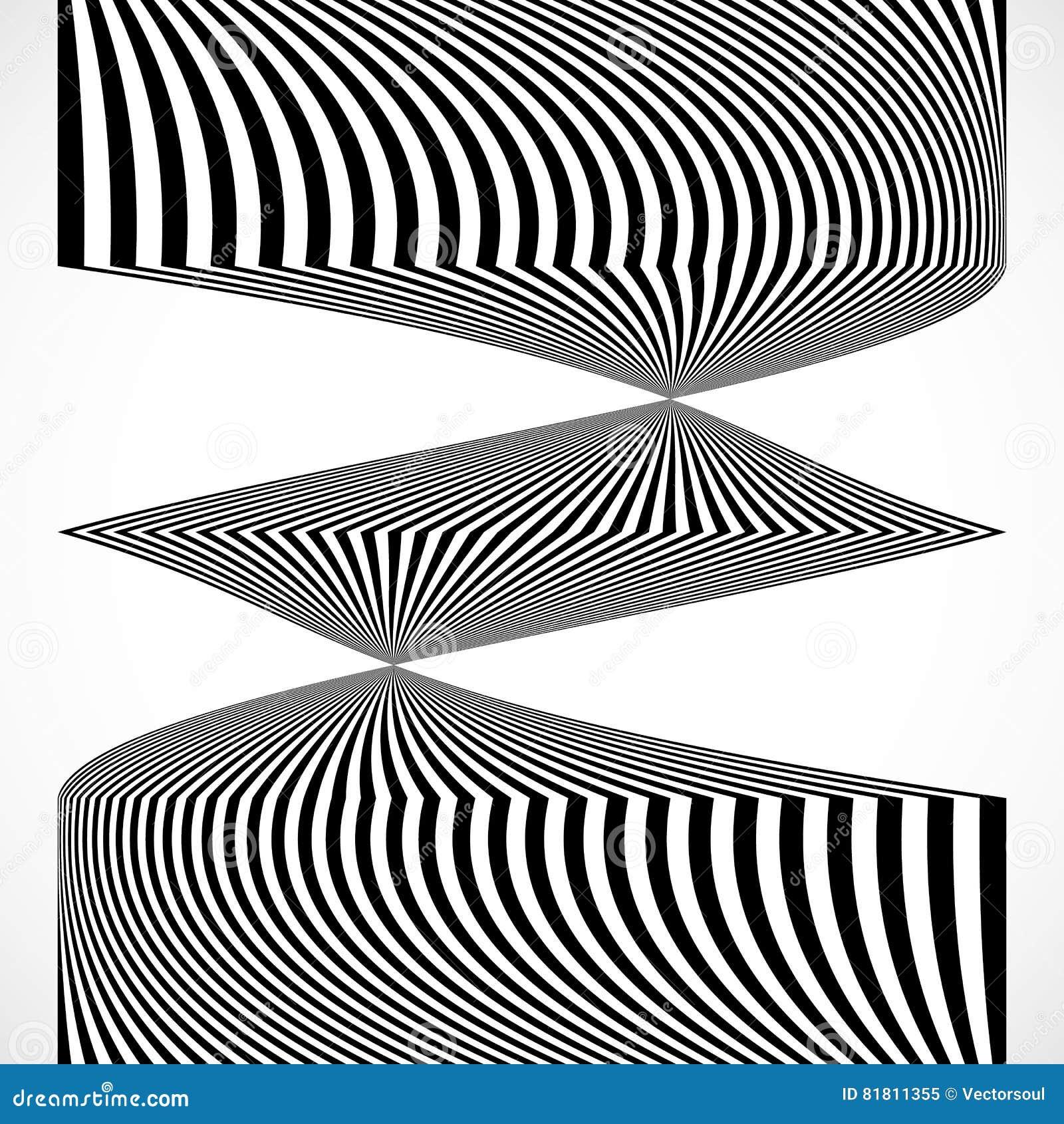 Вертикальные нашивки, линии с искажением, влиянием искривления Абстрактный m