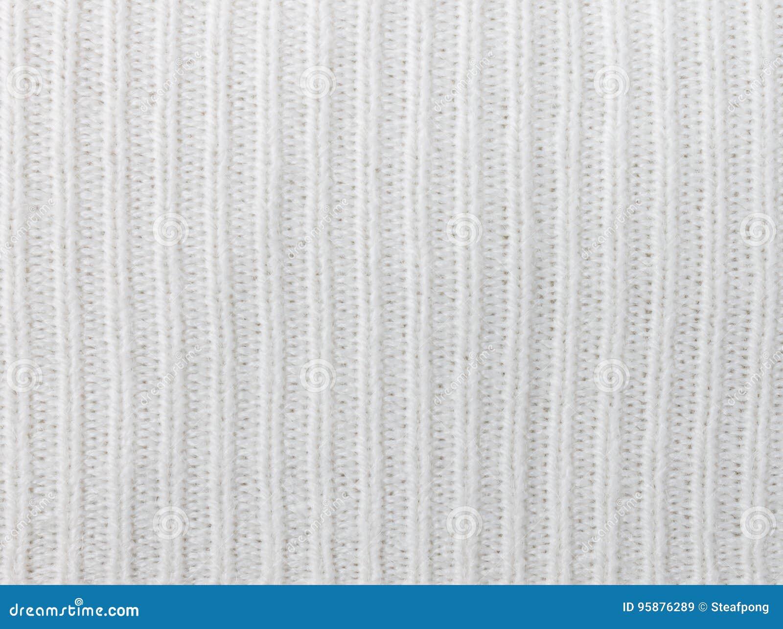Вертикальный вязать белизны или связанная картина Backgr текстуры ткани