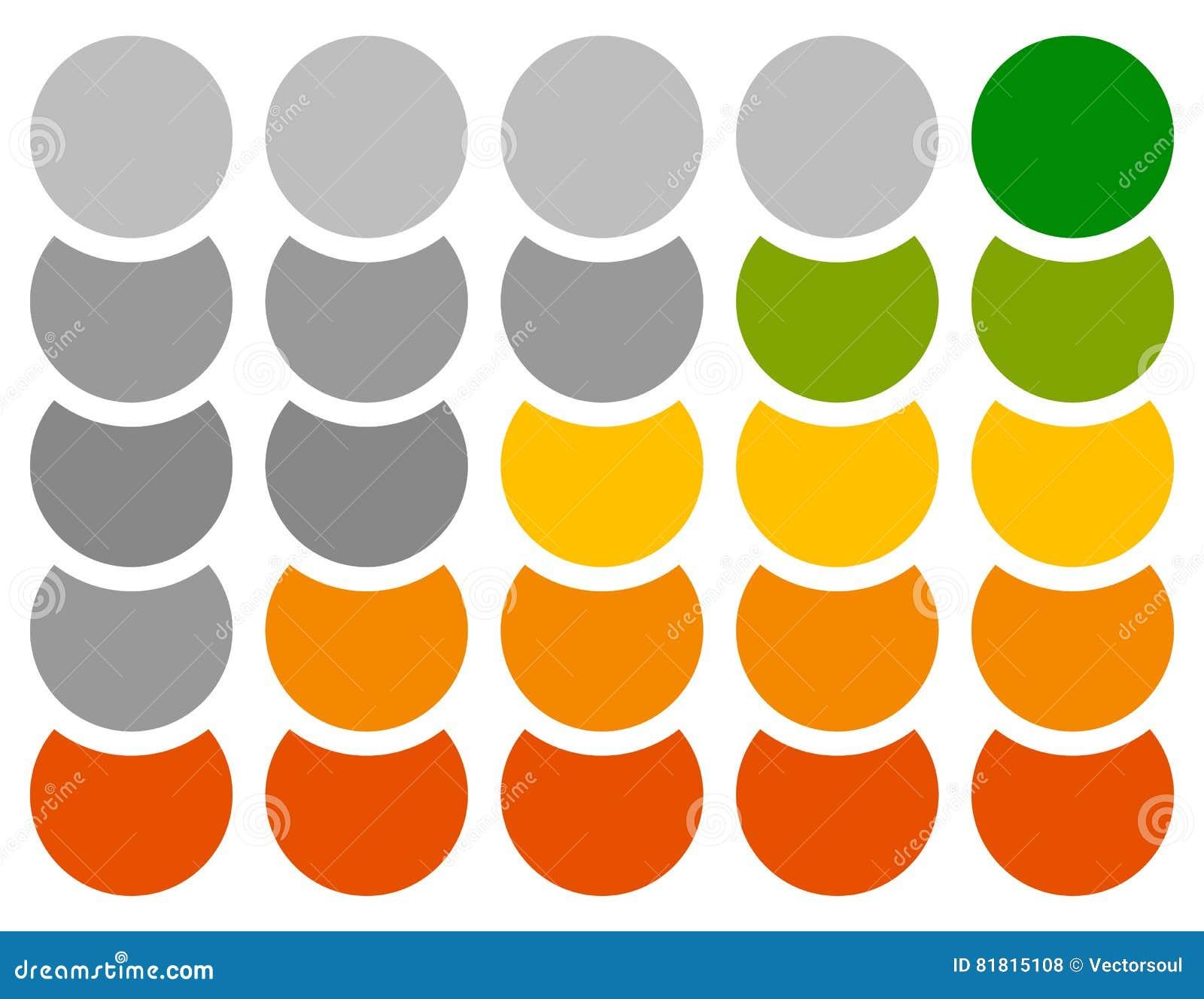 Вертикальный прогресс, шаг, индикаторы участка с 5 шагами