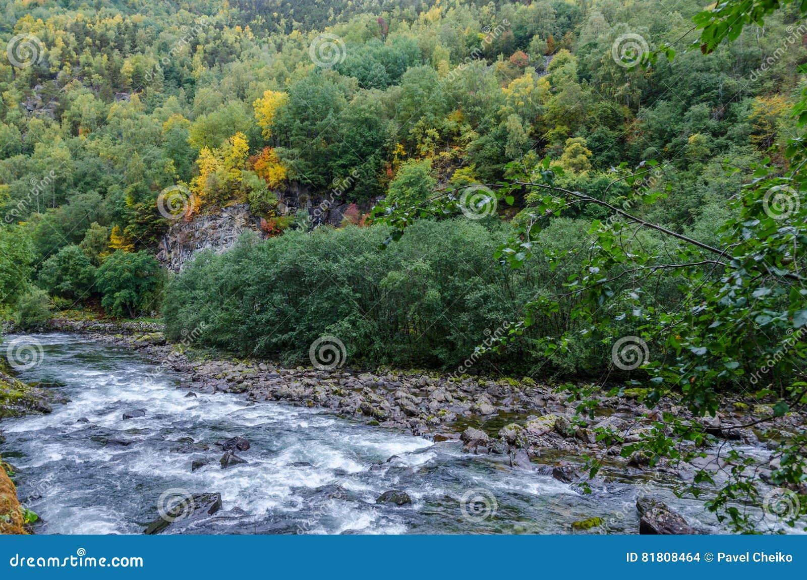 вертикаль реки панорамы горы 3 изображений hdr