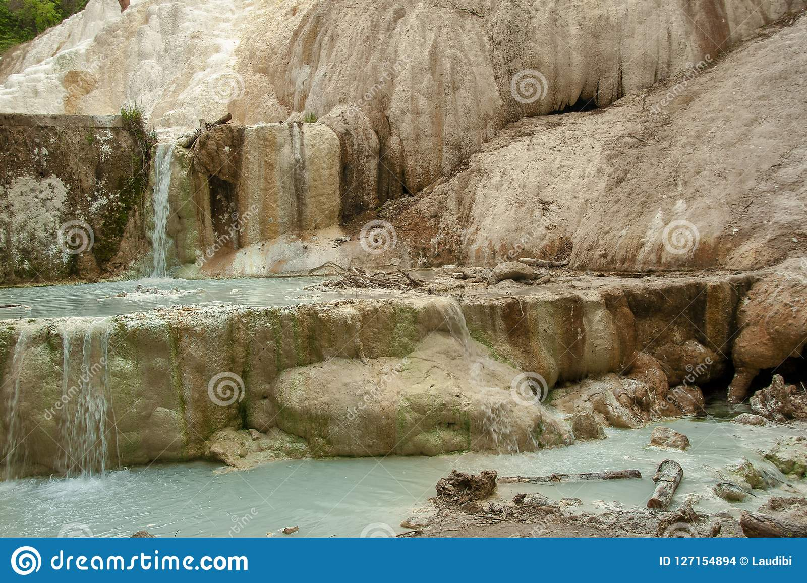 Весна термальной воды Bagni san Филиппо