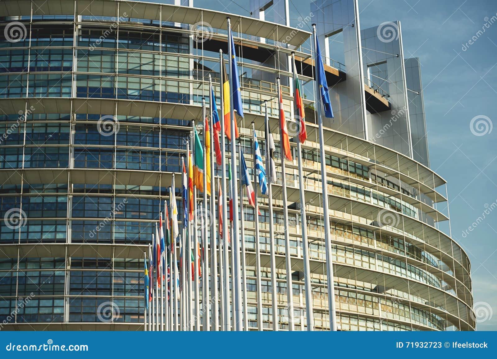 Весь страсбург Strasburg флагов Европейского союза