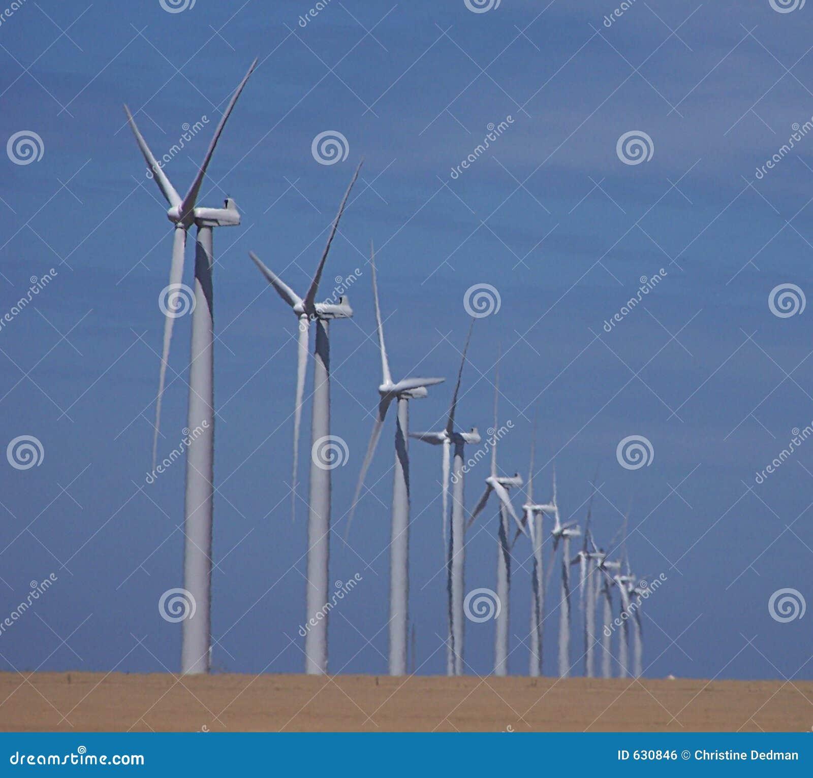 Download ветер фермы стоковое фото. изображение насчитывающей энергия - 630846