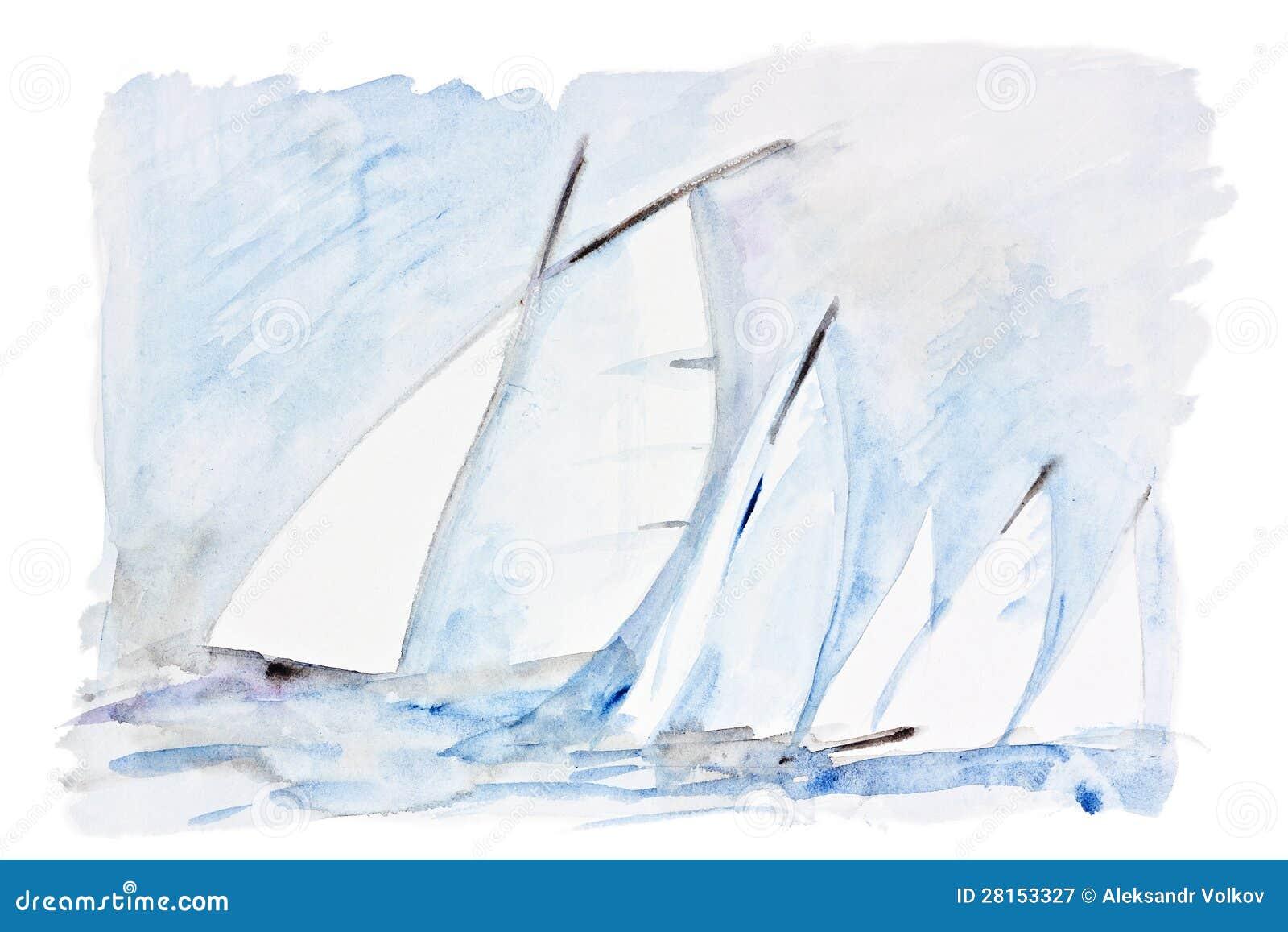 Ветрила в море