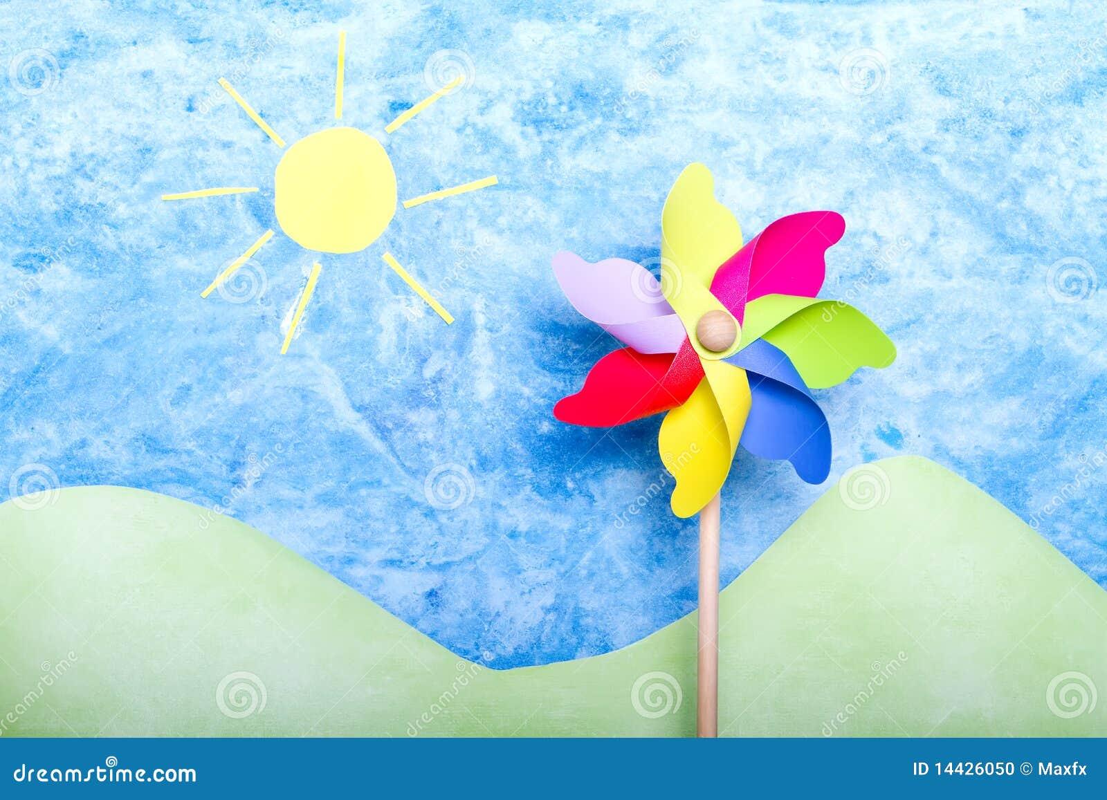 ветрянка цветастой окружающей среды handmade