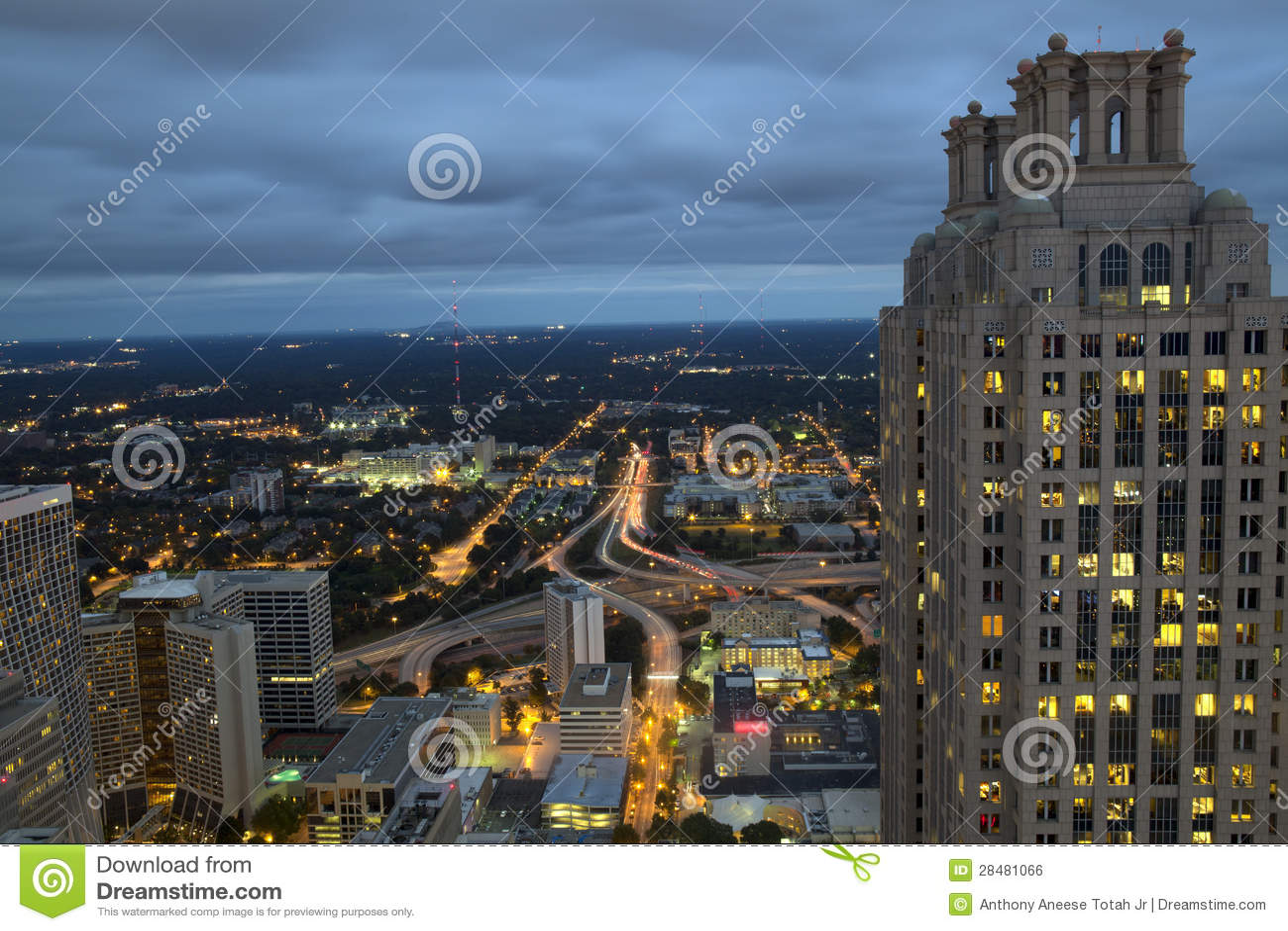 Вечер Comute в Атланте Georgia
