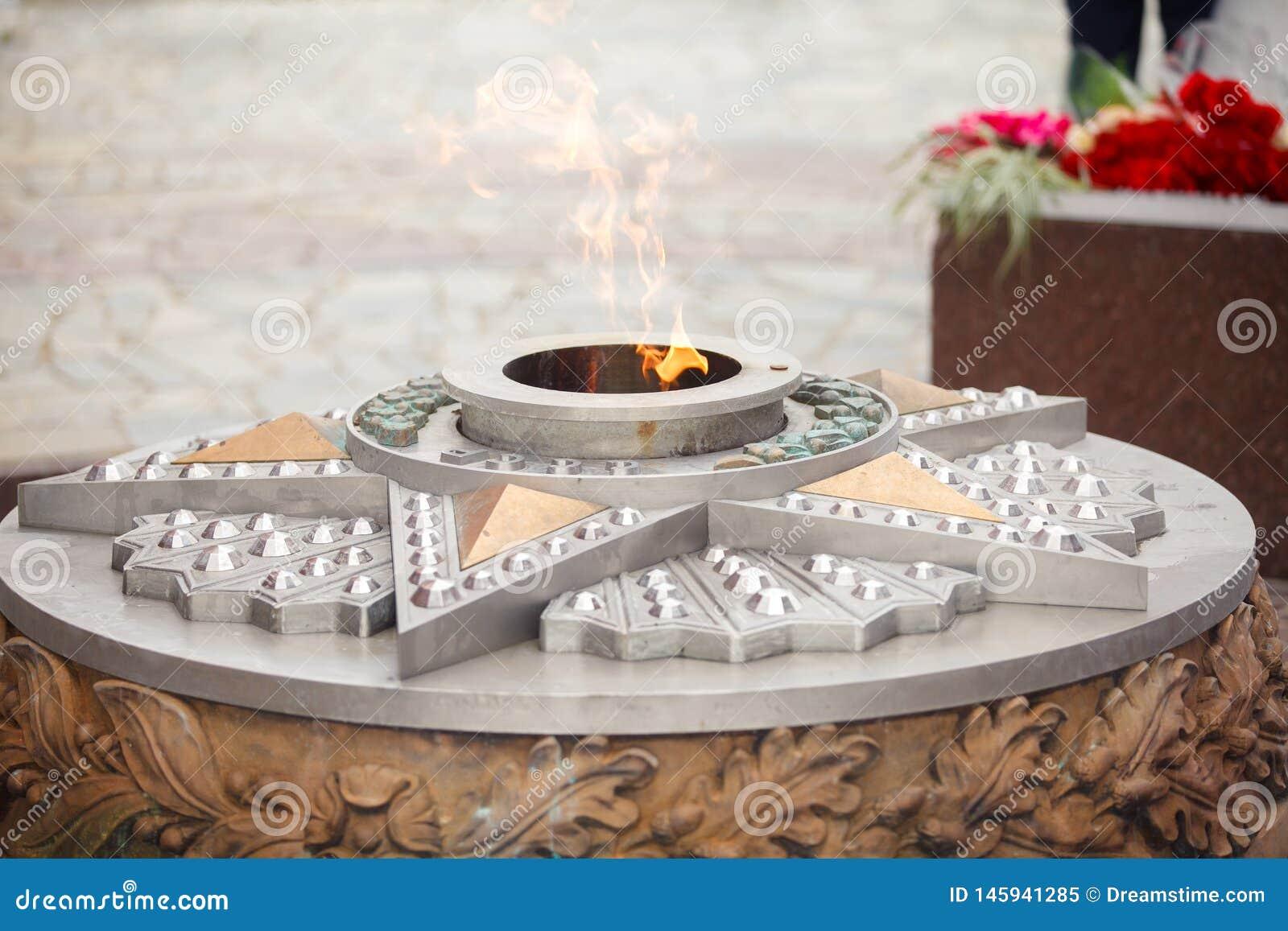 Вечные ожога пламени