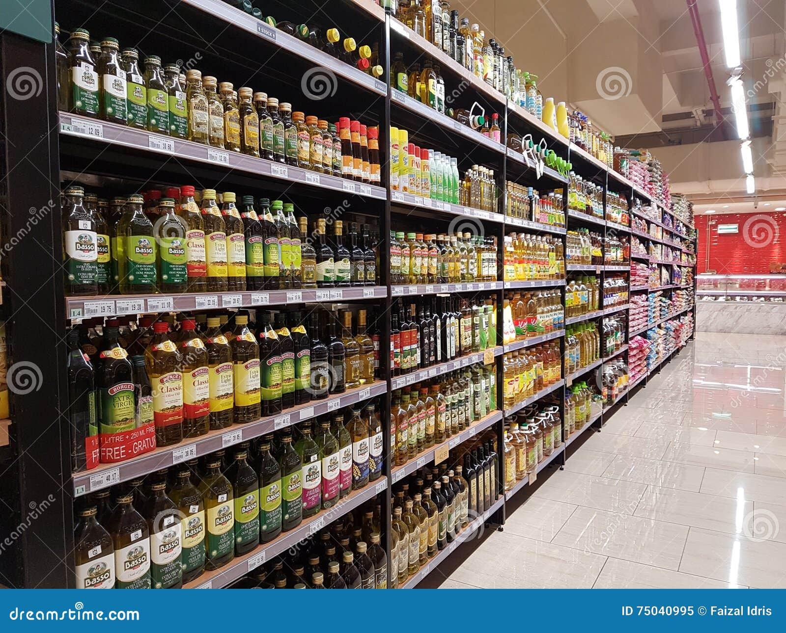 Вещество бакалеи на супермаркете ЛЮДЕЙ DA, Subang USJ, Selangor, Малайзии