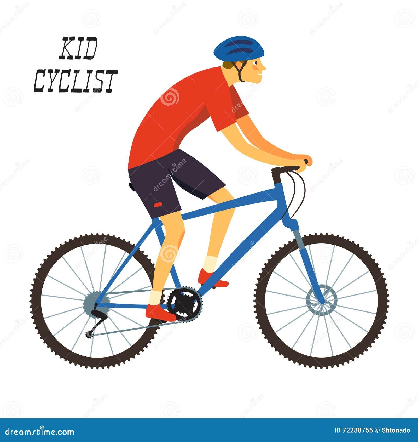 Download Велосипедист горы мальчика иллюстрация вектора. иллюстрации насчитывающей гонка - 72288755
