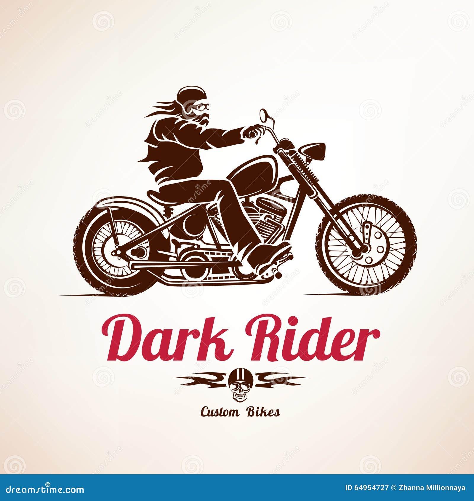 Велосипедист, силуэт вектора grunge мотоцикла