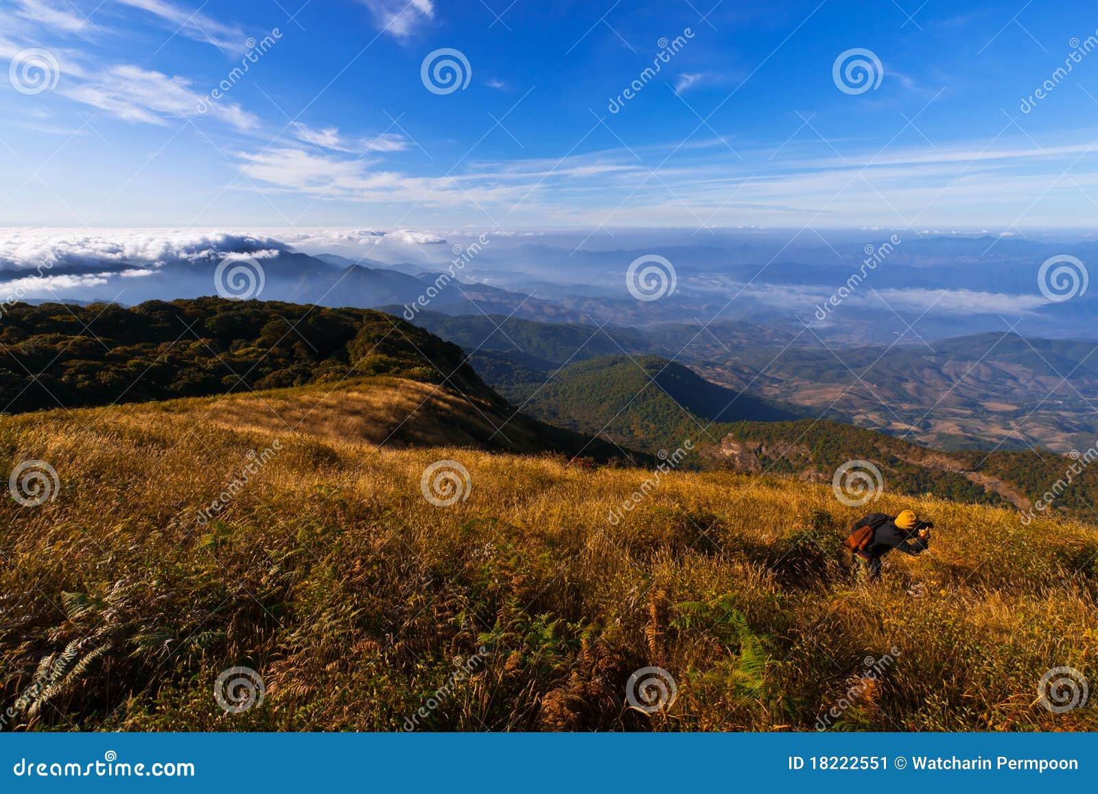 взгляды природы горы ландшафта inthanon doi