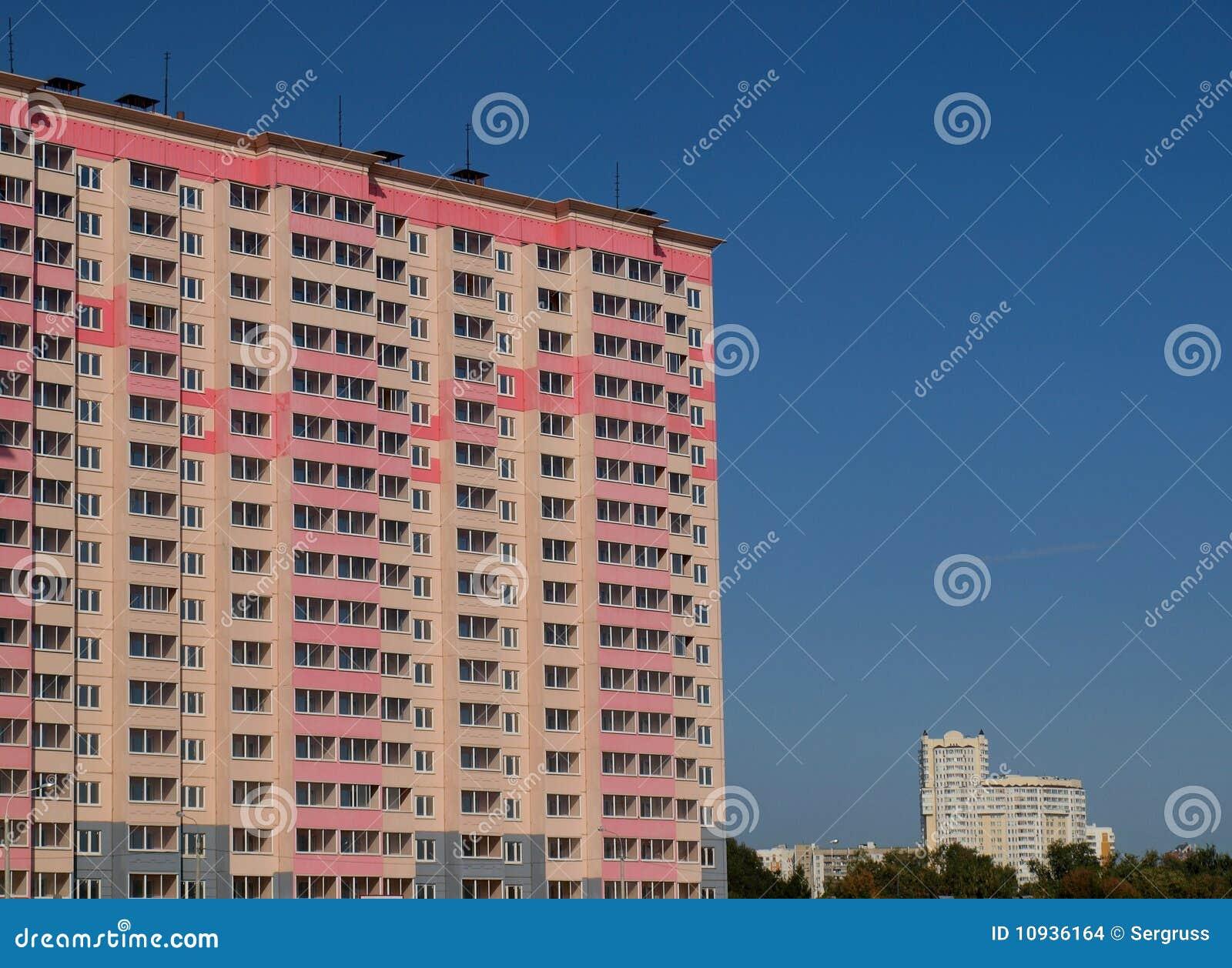 взгляд города здания новый