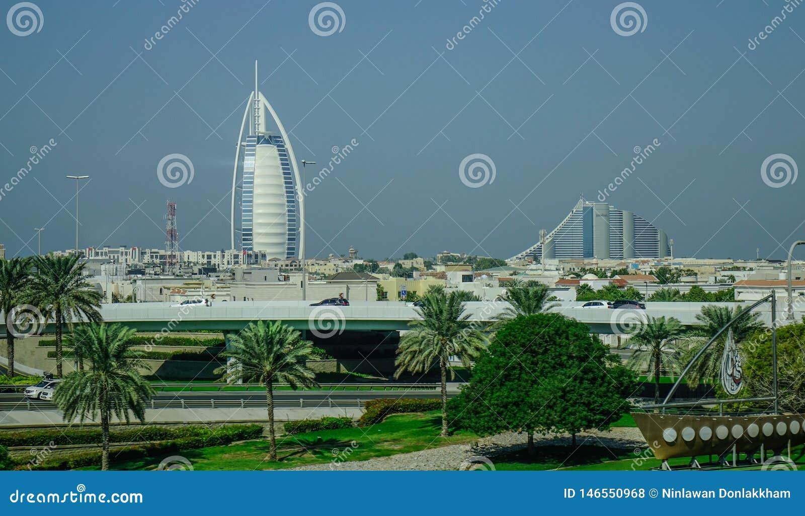Взгляд гостиницы Al Burj арабской в Дубай