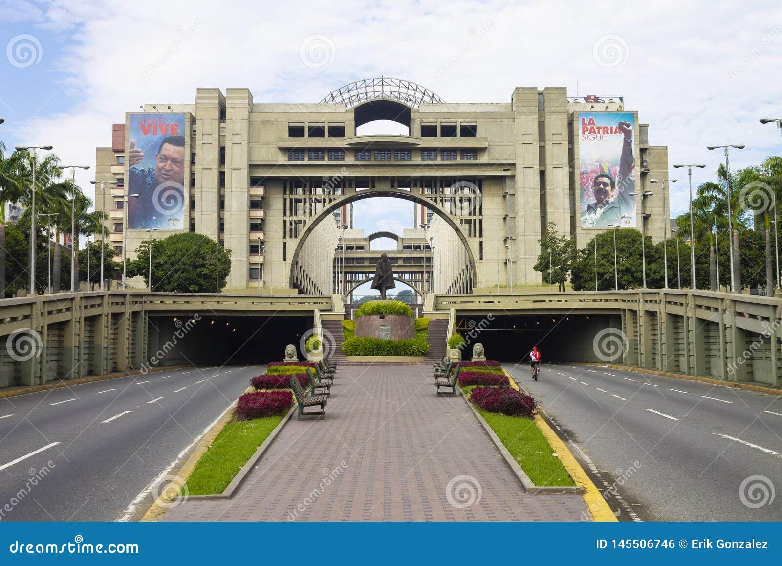 Взгляд дворца правосудия Венесуэлы в Каракасе, Венесуэле