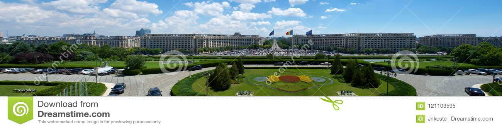 Взгляд дворца Ceausescu парламента Бухареста Румынии Европы