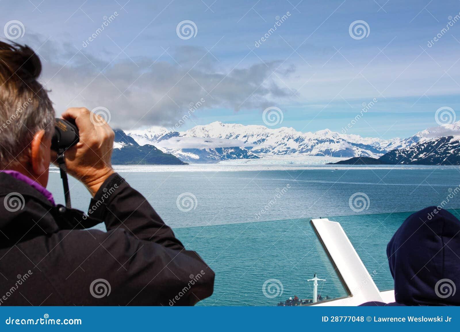 Взгляд круиза Аляски более лучший ледника Hubbard