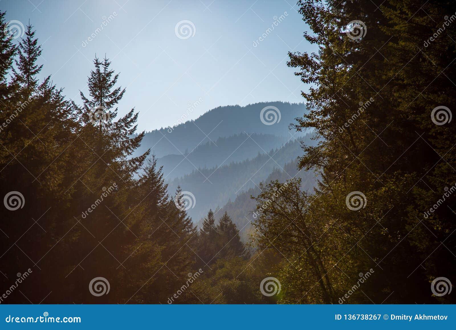 Взгляд на далеких холмах от опалового trailhead бассейна