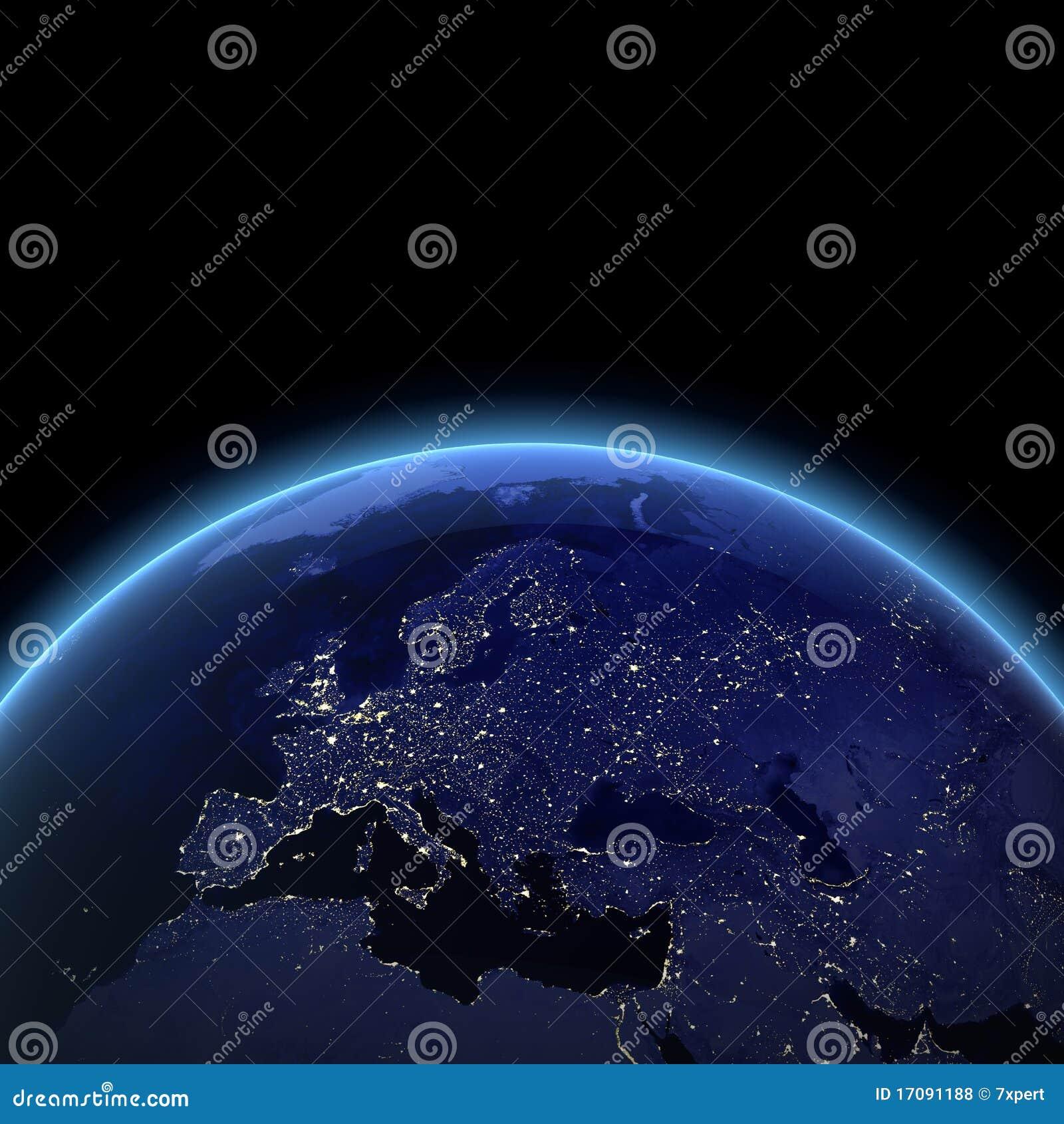 взгляд ночи европы