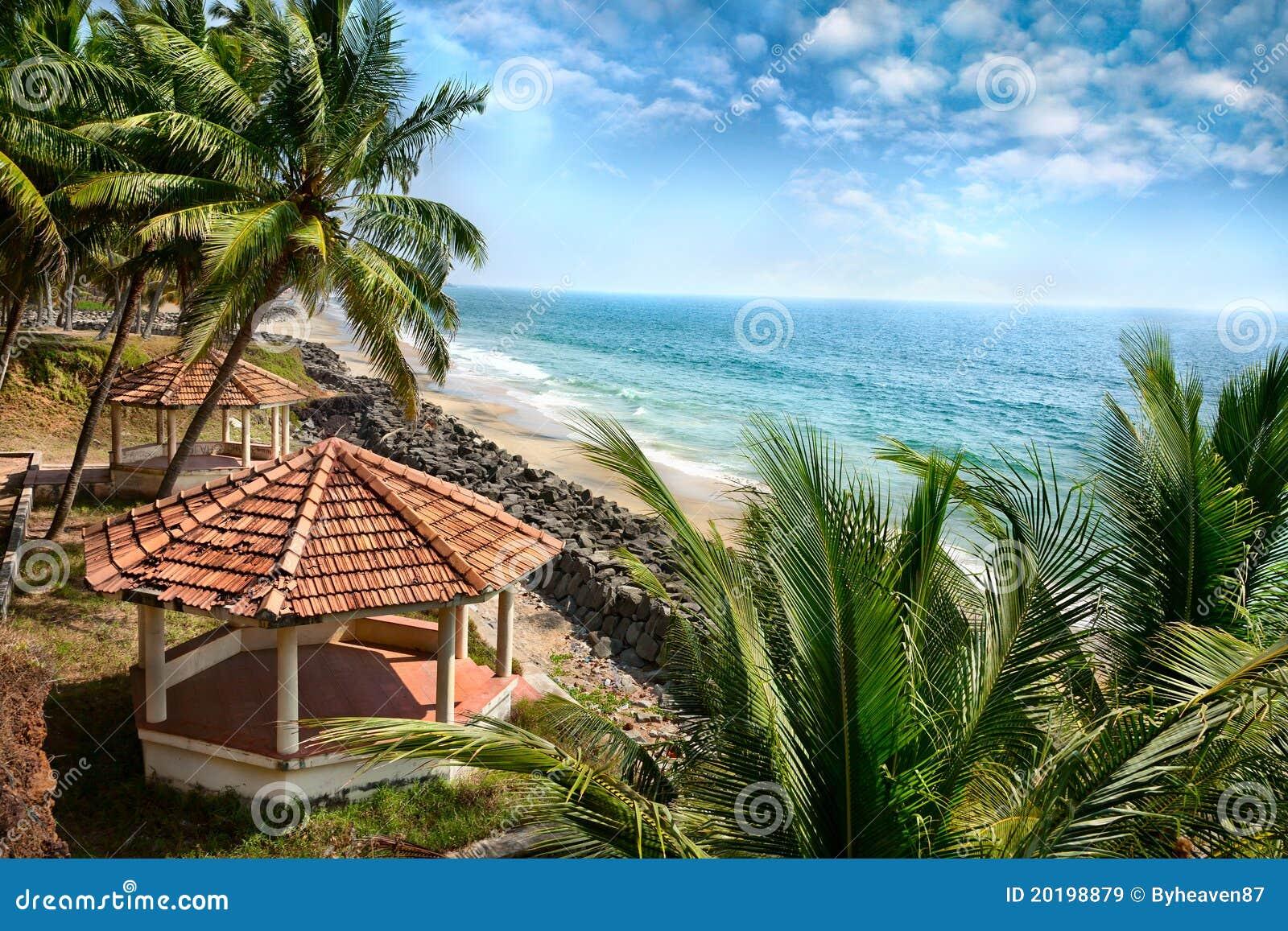 взгляд океана Кералы