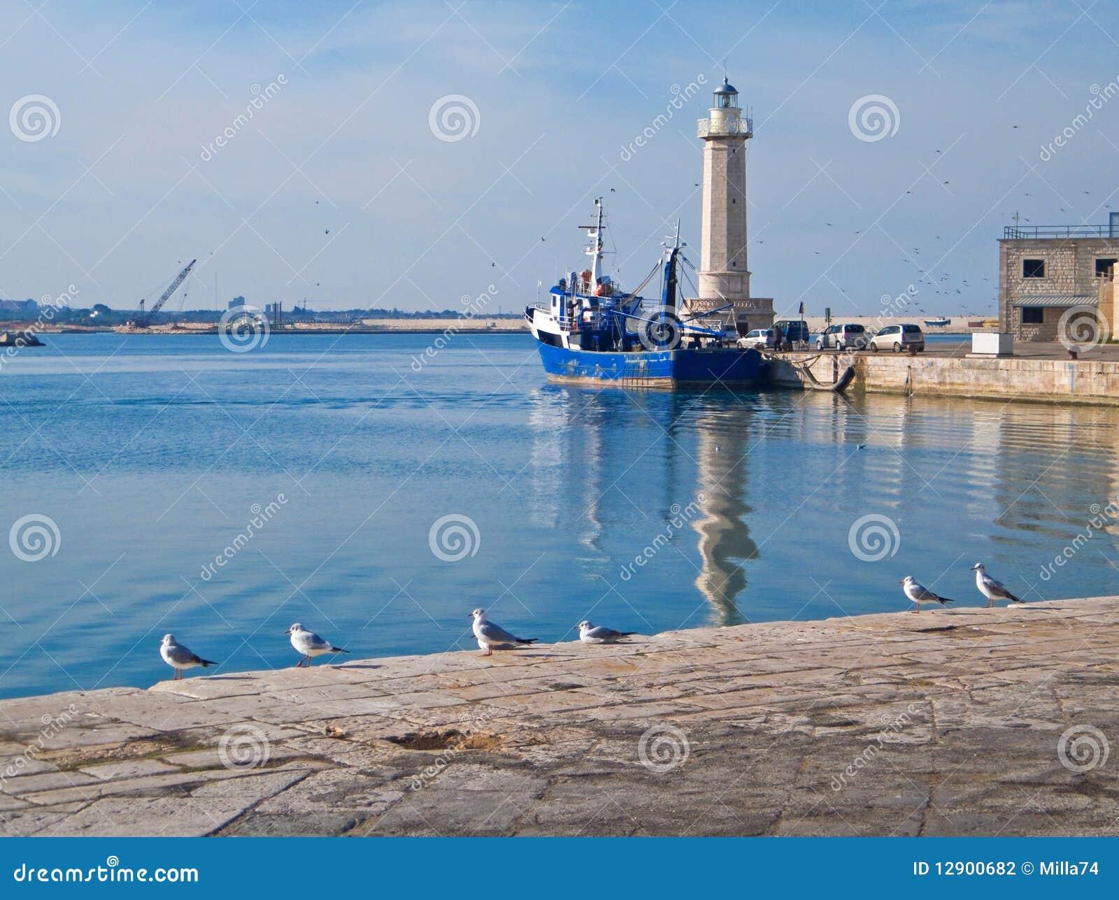 взгляд порта molfetta ландшафта touristic