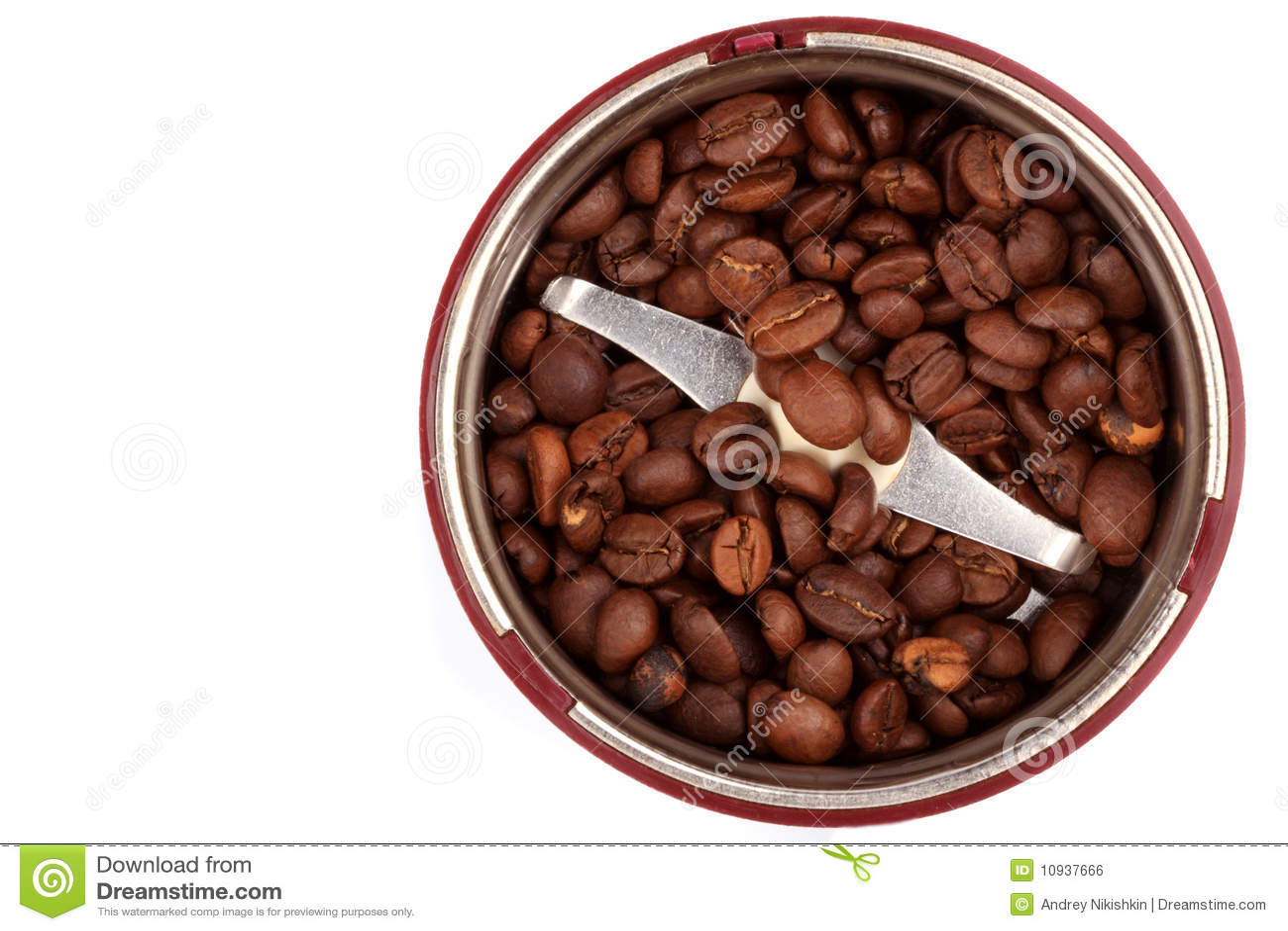 взгляд сверху точильщика зерен кофе