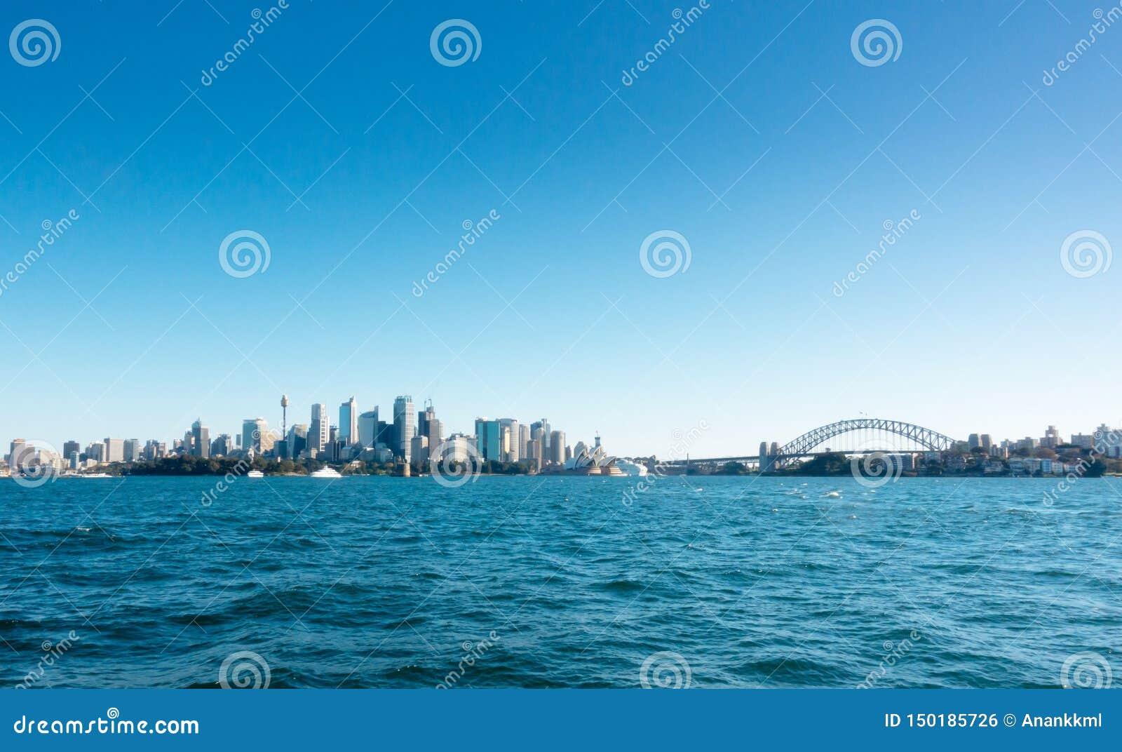 Взгляд Сиднея CBD от парома
