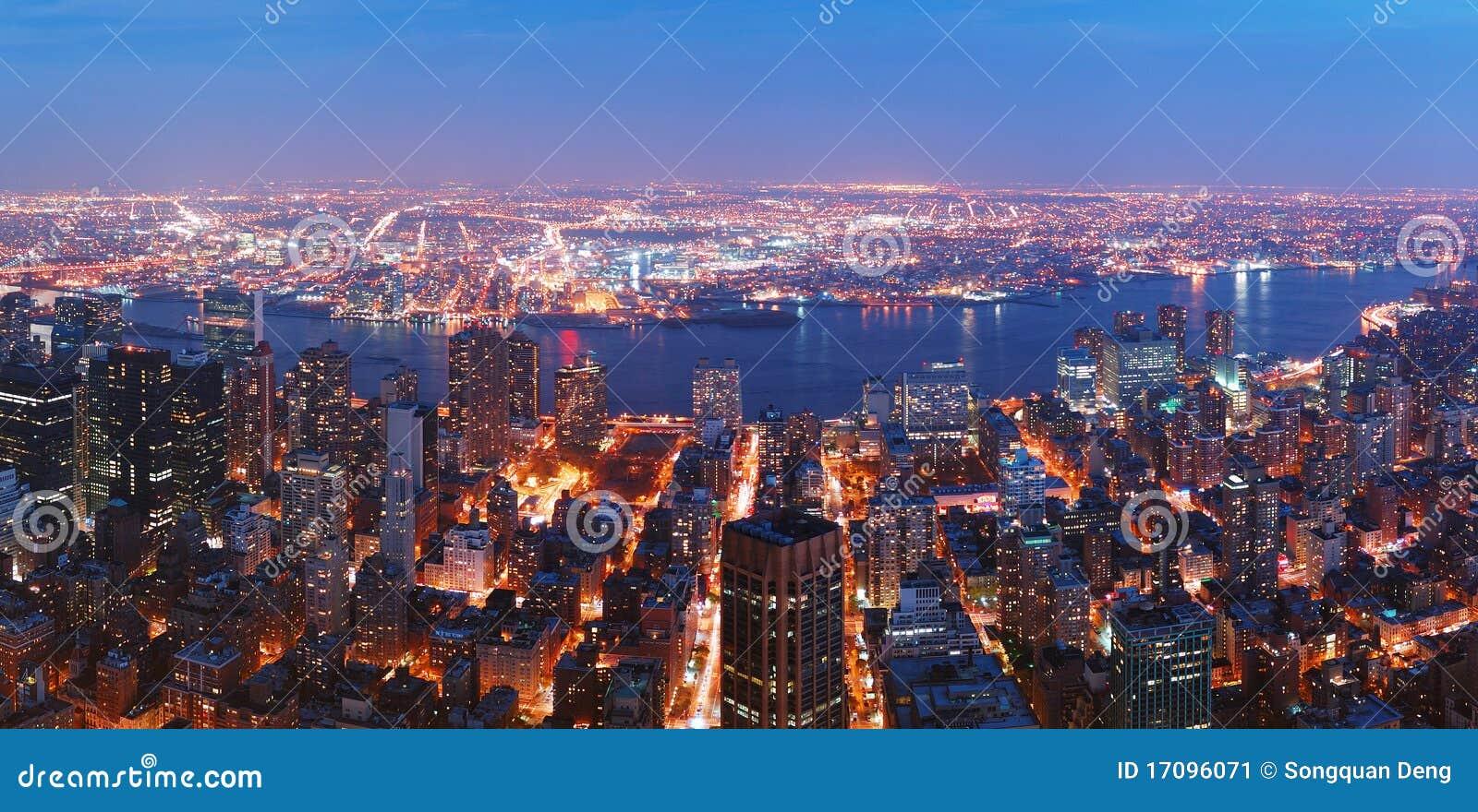 взгляд york manhattan воздушного города brooklyn новый