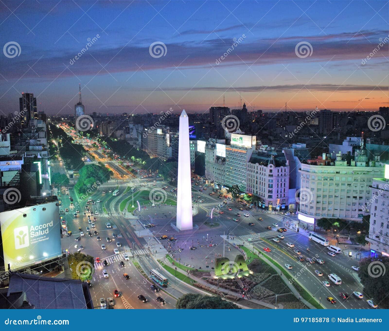 Взгляд Буэноса-Айрес, Аргентины, восемнадцатого из февраля 2017