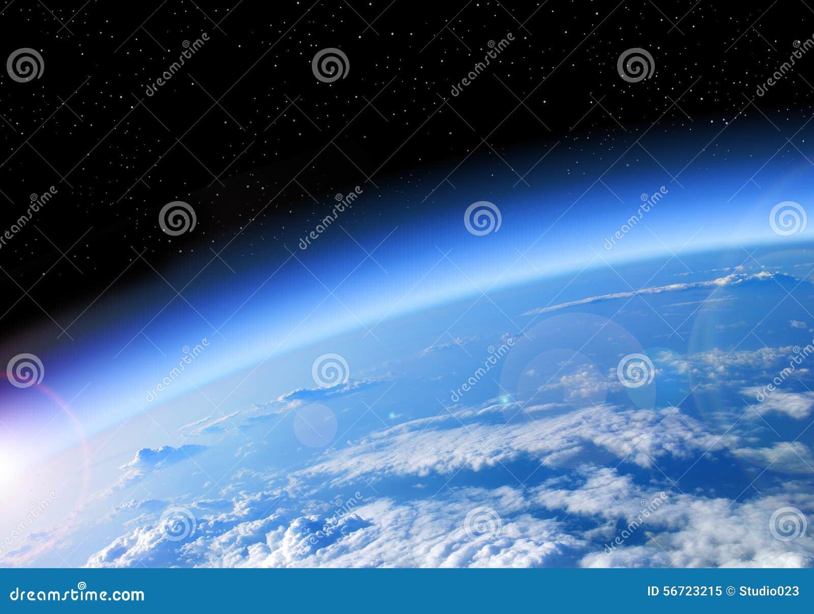 взгляд вектора космоса иллюстрации земли