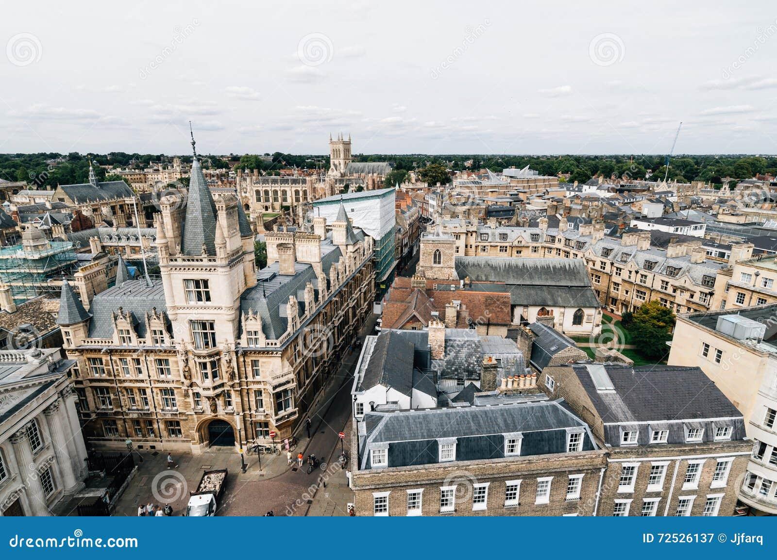 Взгляд высокого угла Кембриджа