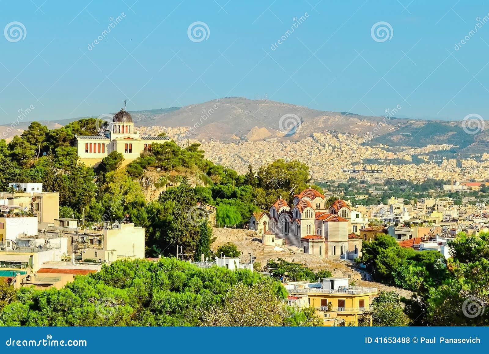 Взгляд города Афин