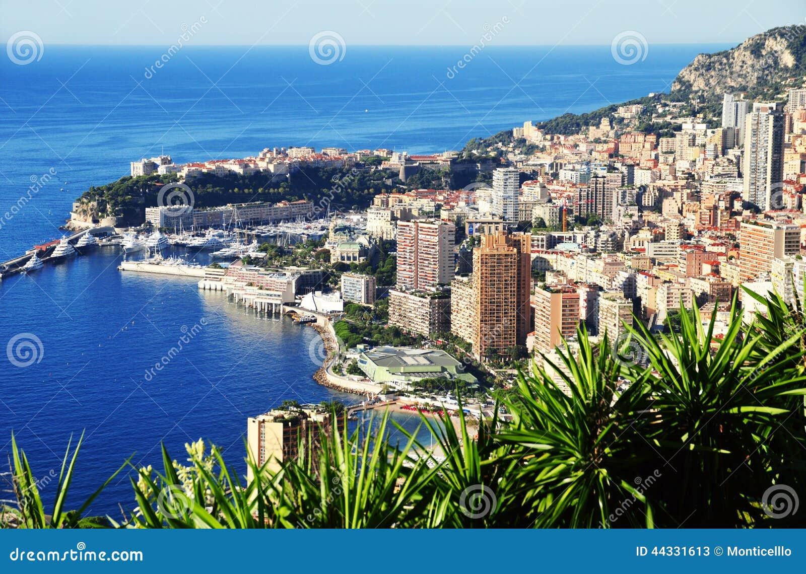 Взгляд города Монако Французский riviera