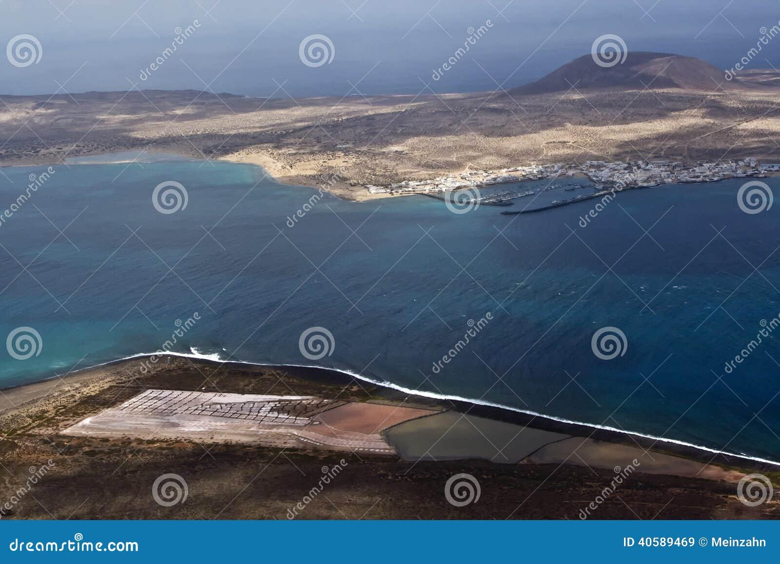 Взгляд к Ла Graciosa острова