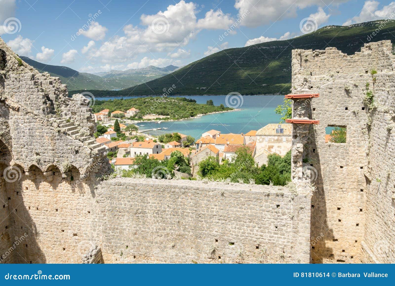Взгляд Мали Ston, Хорватии