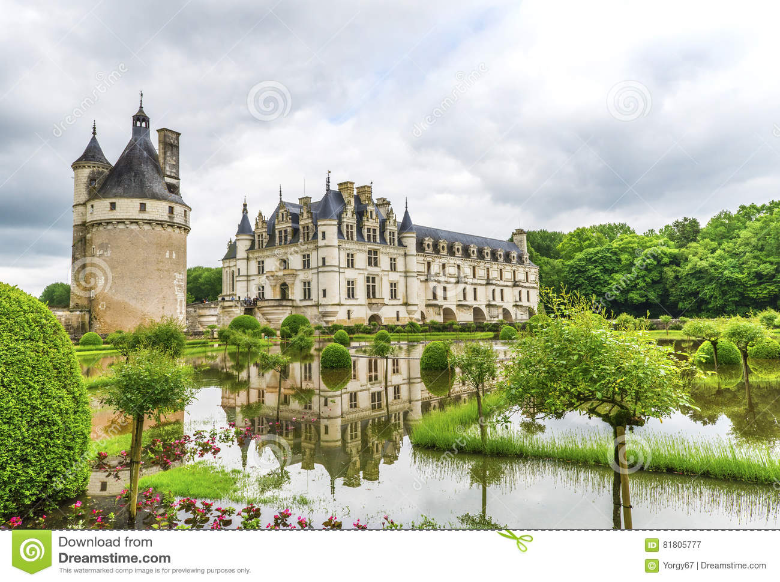 Взгляд на замке Chenonceau