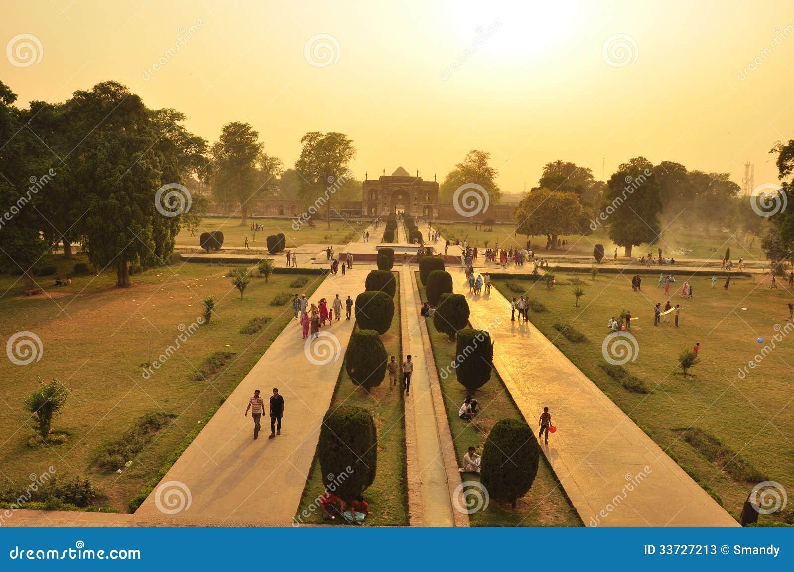 Взгляд над местом искусства Mughal, Лахором