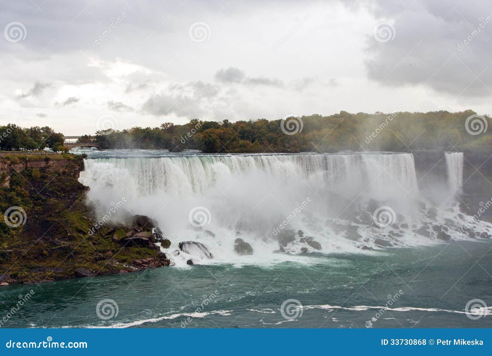 Взгляд Ниагарского Водопада