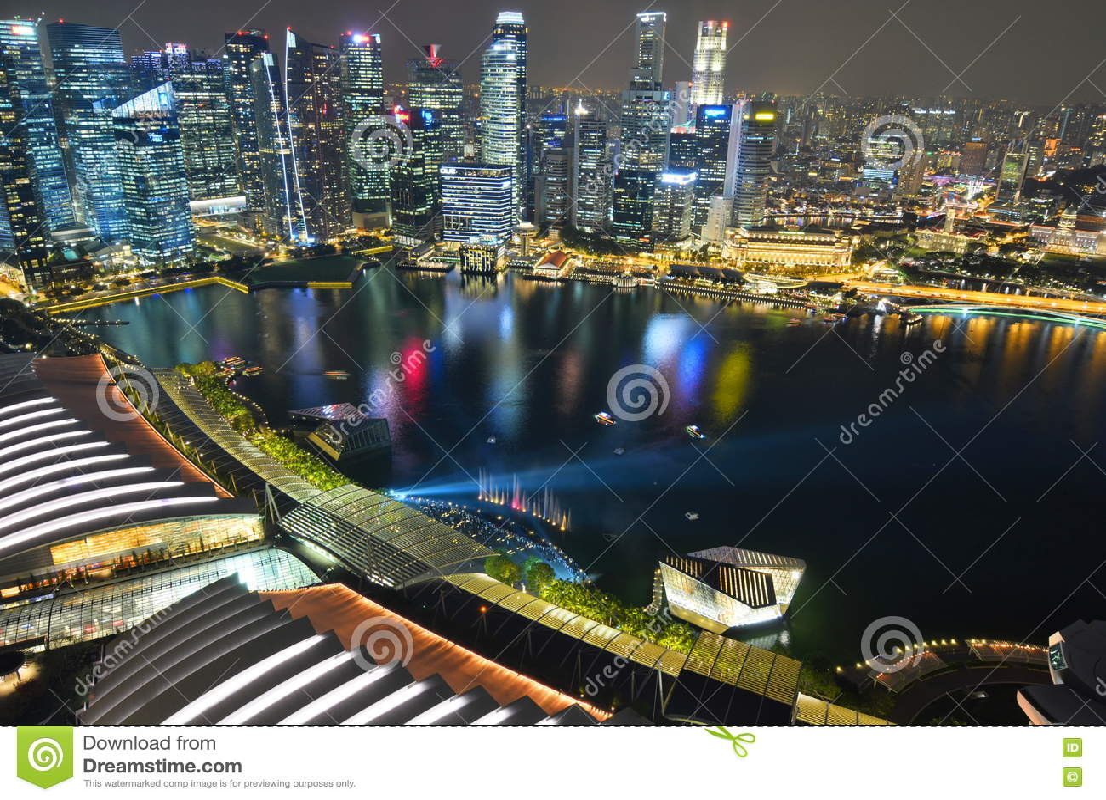 Download Взгляд ночи от залива Марины зашкурит Skypark Сингапур Редакционное Фотография - изображение насчитывающей городск, cityscape: 72288757