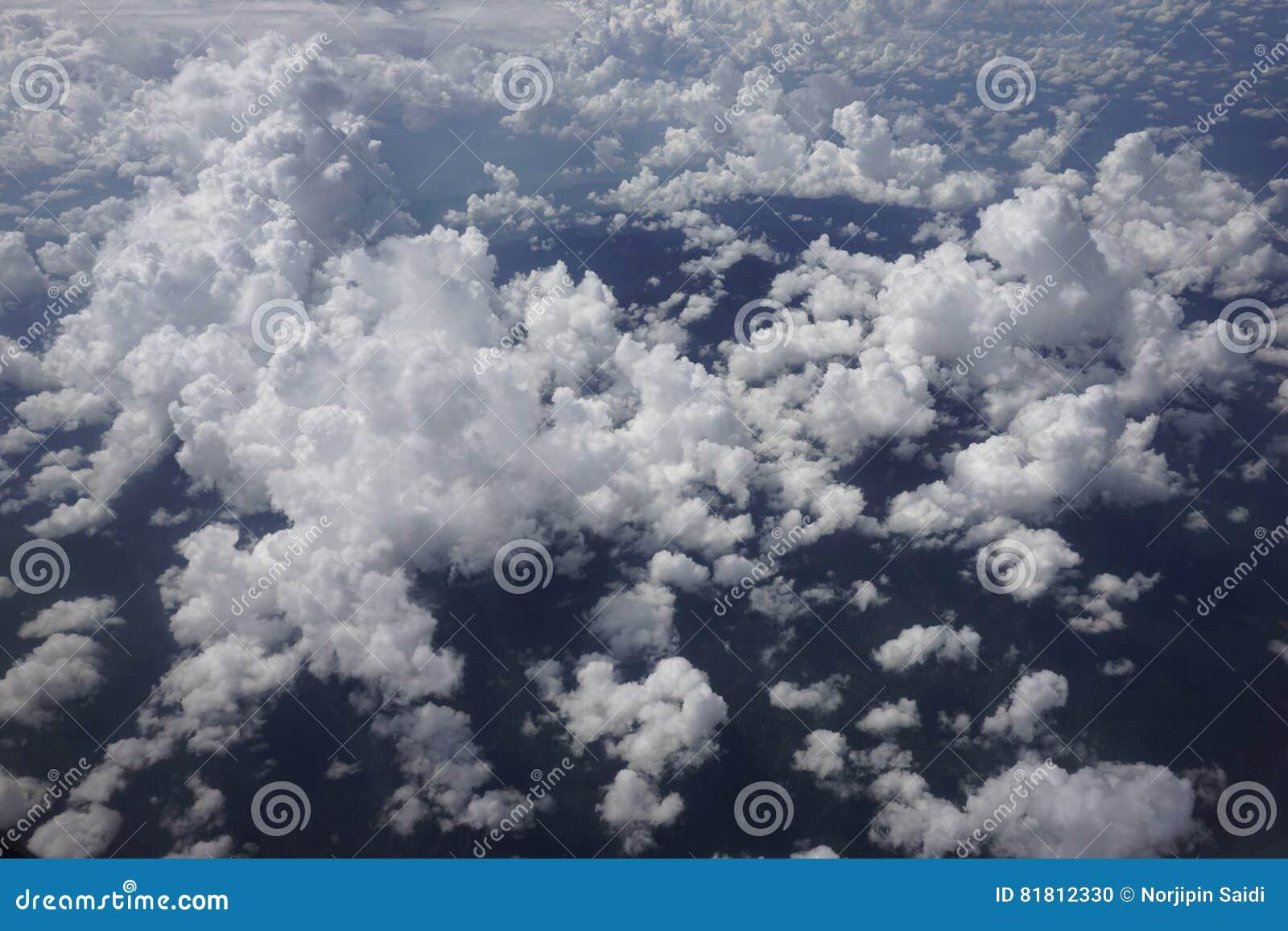 Взгляд облака от аэроплана