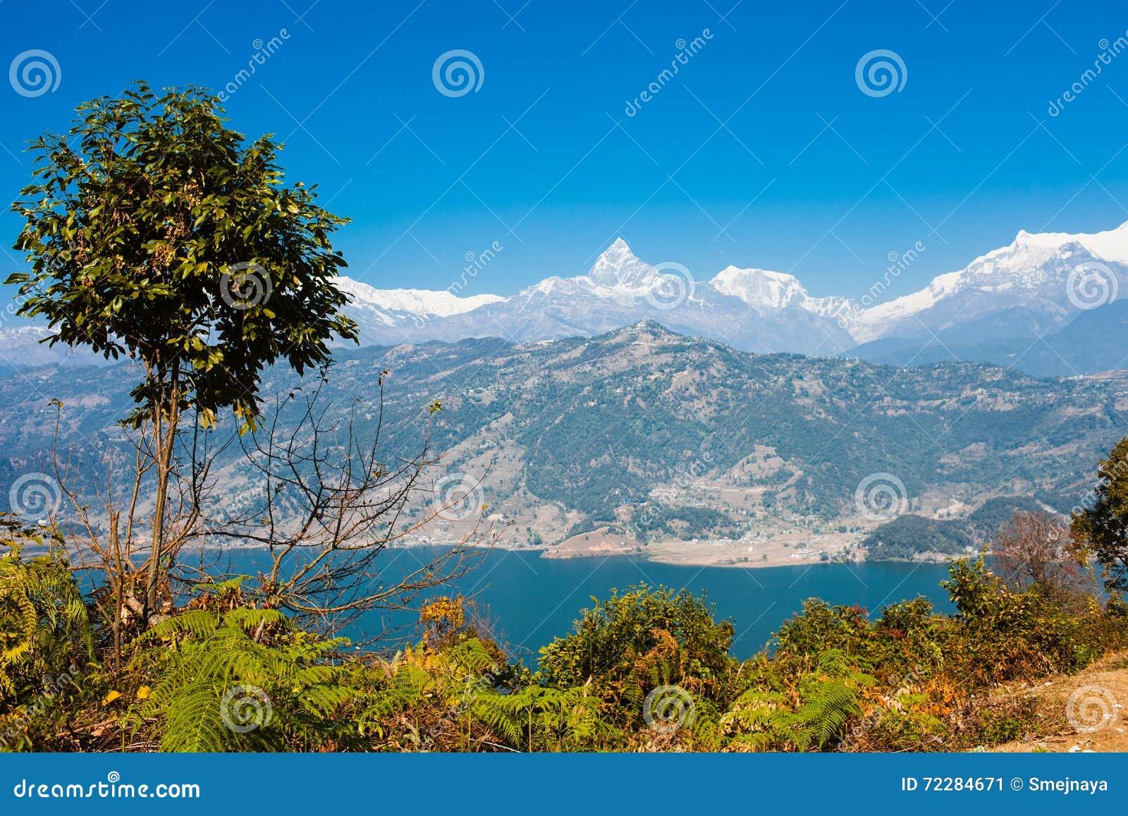 Download Взгляд озера Phewa и горной цепи Annapurna Стоковое Изображение - изображение насчитывающей гора, trekking: 72284671
