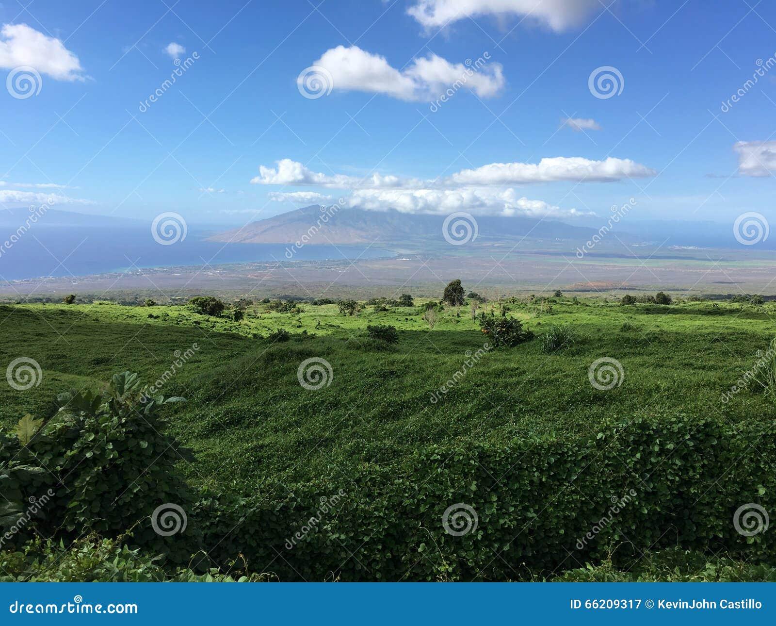 Взгляд смотря вниз на централи, Мауи