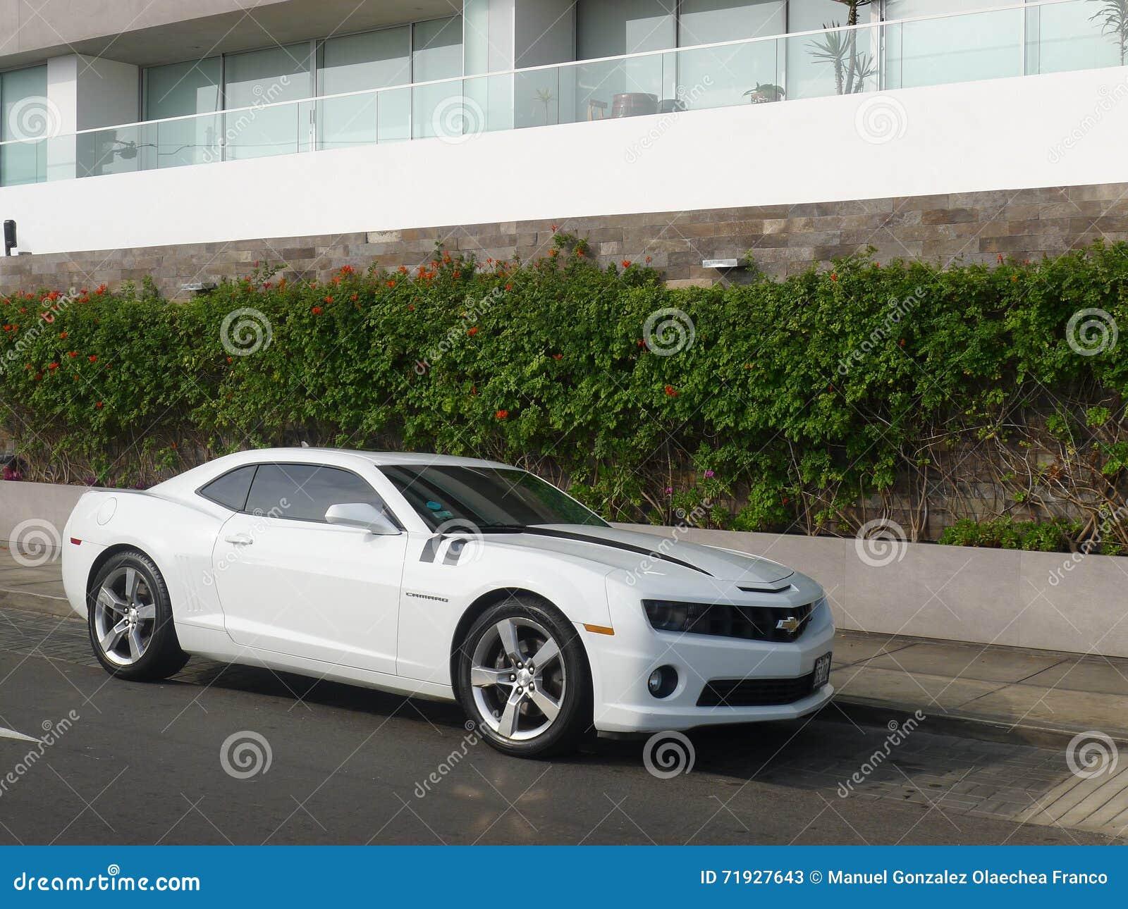 Взгляд со стороны цвета Chevrolet Camaro SS белизны