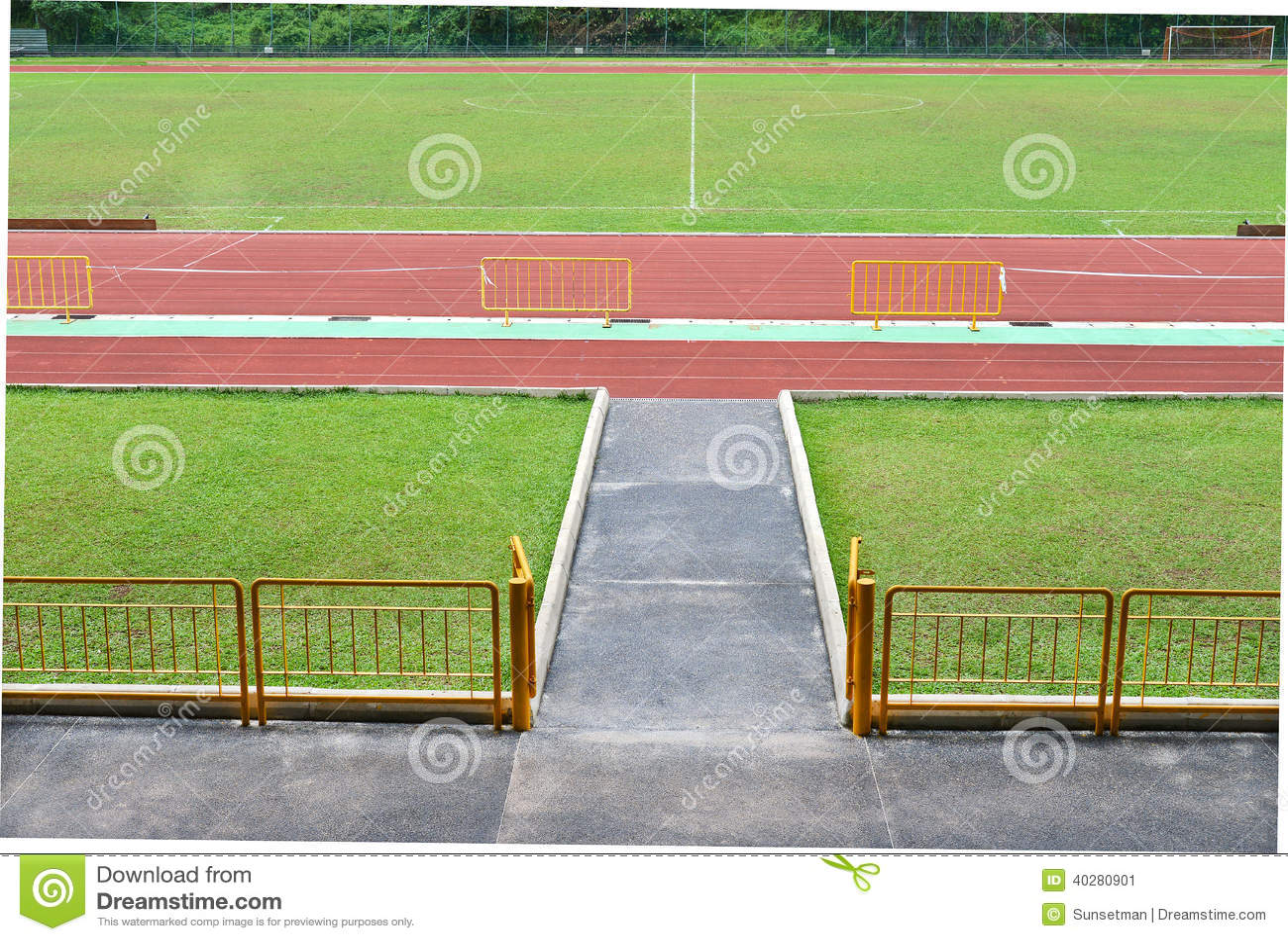 Взгляд трибуны стадиона