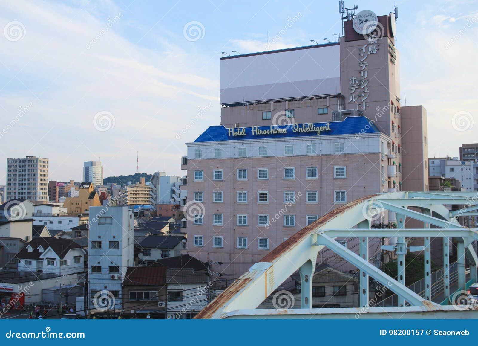 Download взгляд улицы на Хиросиме редакционное фотография. изображение насчитывающей cityscape - 98200157