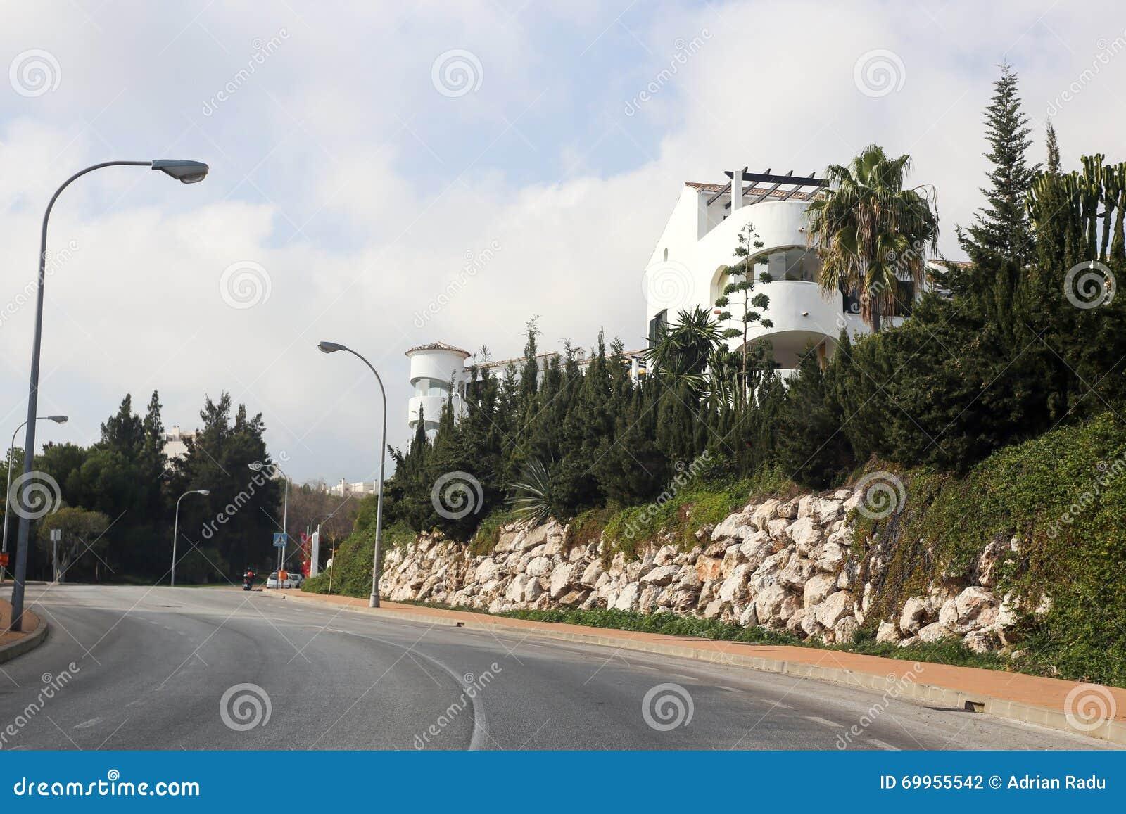Взгляд Benalmadena Испания Andalicia улицы