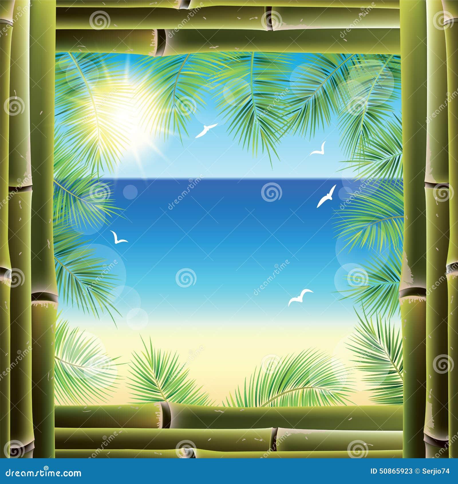 Взгляд seashore от окна курортного отеля