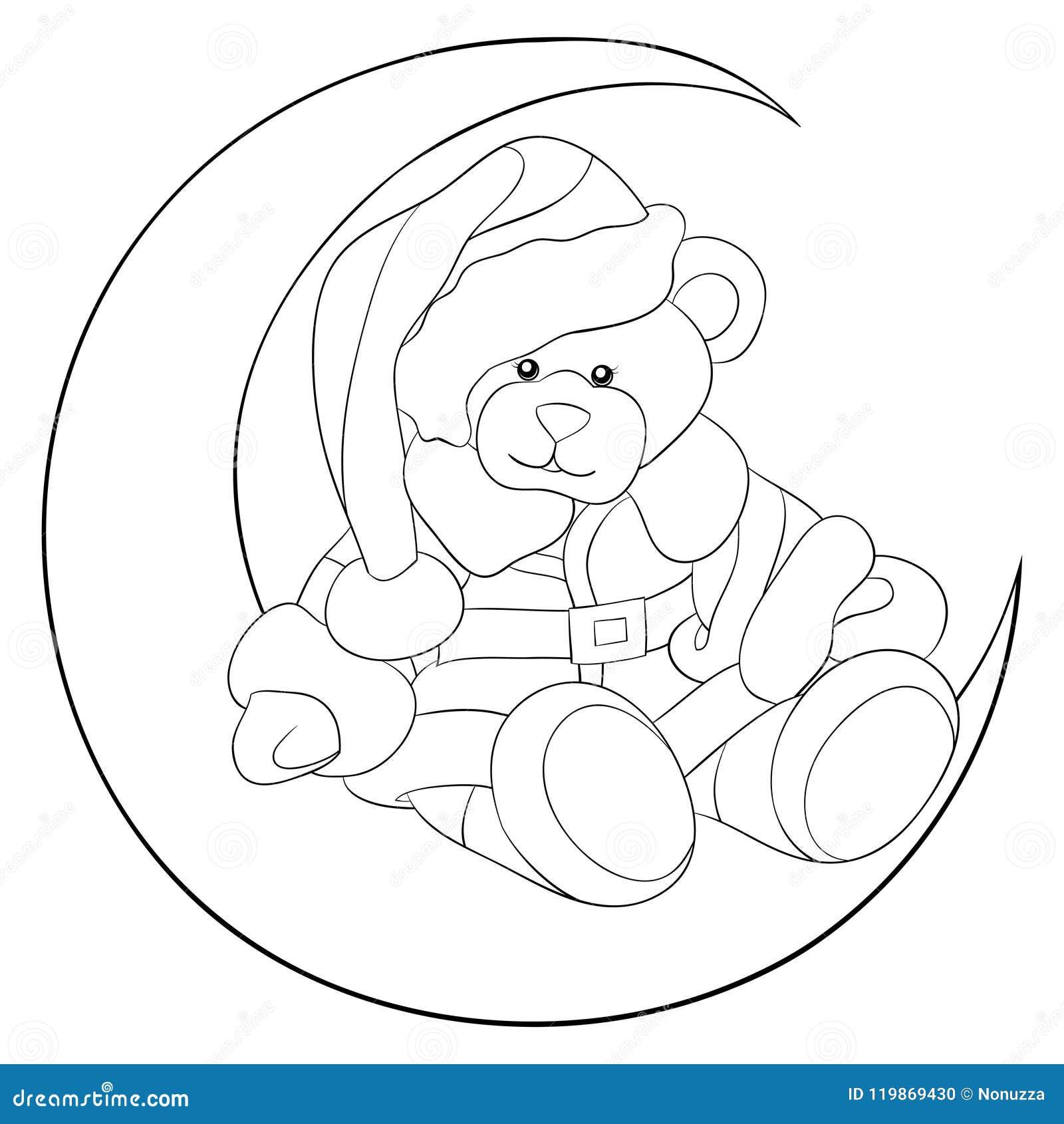 взрослая книжка раскраска вызывает медведя рождества на