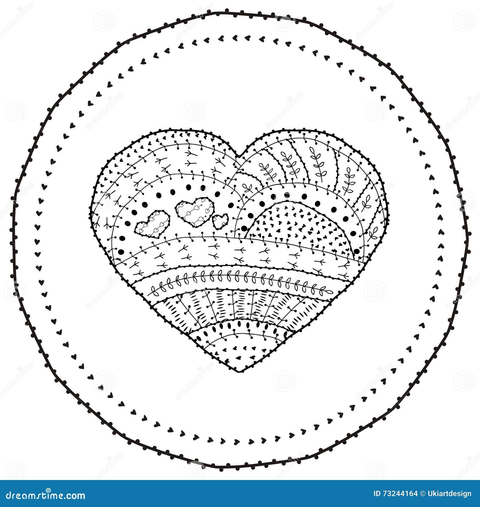 взрослое сердце вектора страницы книжка раскраски